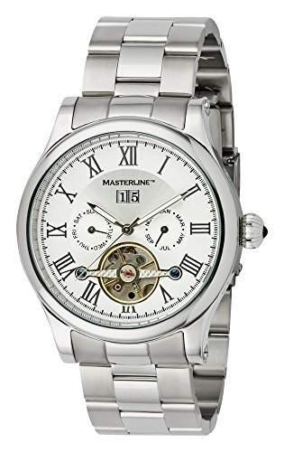 Masterline1966 Armbanduhr Herren Automatik * Silver * Glasboden Edelstahl ML06090011