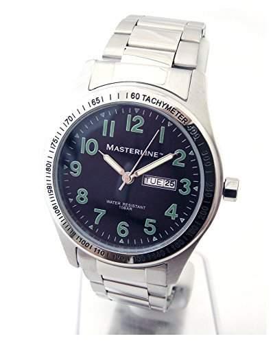 Masterline1966 Herren Armbanduhr Edelstahlband DayDate schwarz ML06108004