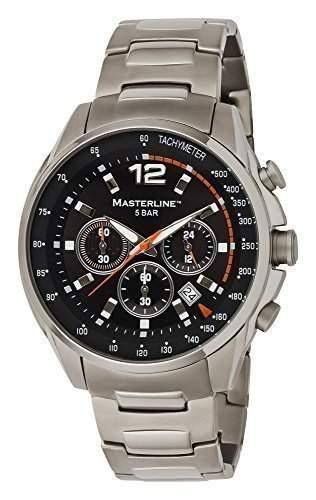 Masterline1966 Herren Armbanduhr Titan Chronograph Schwarz ML06173001