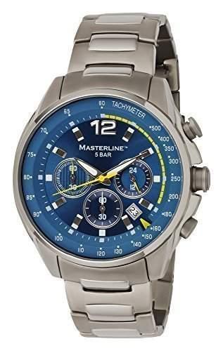 Masterline1966 Herren Armbanduhr Titan Chronograph Blau ML06173002