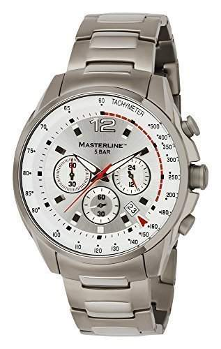 Masterline1966 Herren Armbanduhr Titan Chronograph Silber ML06173003