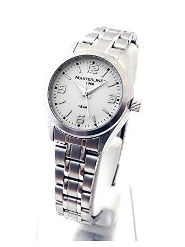 Masterline1966 Damen Armbanduhr Edelstahl Serie Work-Line weiss ML06187001