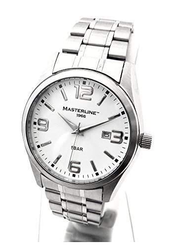 Masterline1966 Herren Armbanduhr Edelstahl Serie Work-Line weiss ML06188001