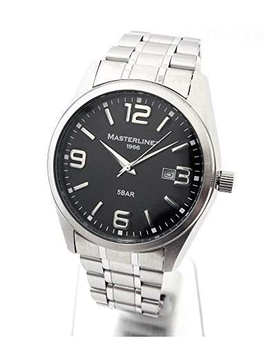 Herren Armbanduhr Masterline1966 Edelstahl Serie Work-Line schwarz ML06188002