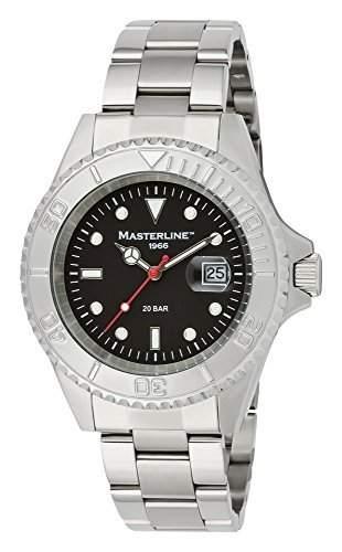 Masterline1966 Herren Armbanduhr Taucher 200m wasserdichtDiver200 schwarz ML06190002