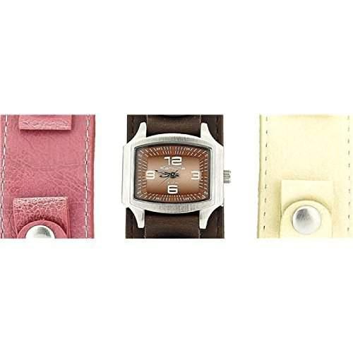 Kahuna Maedchenuhr Braun Pink Und Cremefarben Auswechselbar
