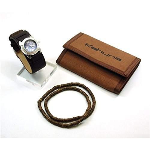Kahuna Jungen Geldboerse, Beads und braune Handschellen Uhren Geschenkset