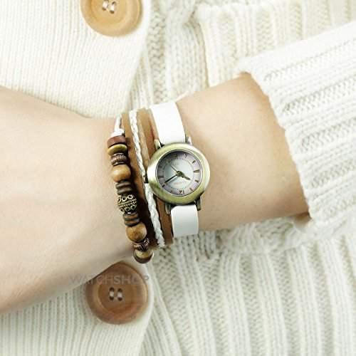 Kahuna Damen-Armbanduhr Analog Kunststoff Weiss AKLS-0200L