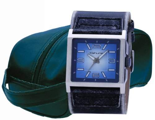 Kahuna Herren-Armbanduhr Analog Leder braun AKUC-0017G