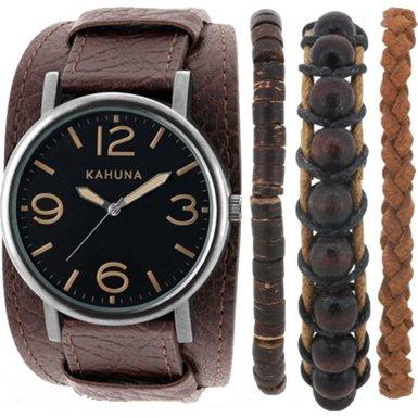 Kahuna Damen Armbanduhr Analog Quarz Leder AKLS 0287L