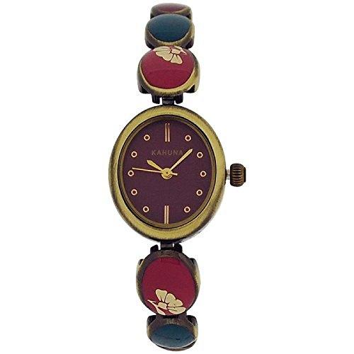 Kahuna viol Zifferbl buntes messingf Armband AKLB 0034L