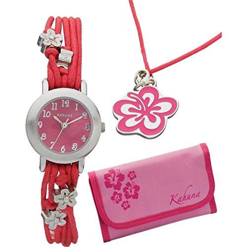 Damen Kahuna Geldboerse Geschenk Set Armbanduhr akks 0003 F