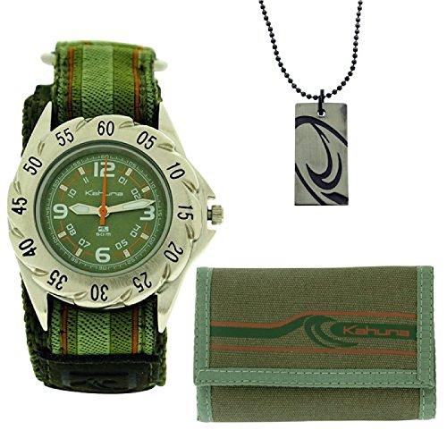 Kahuna Geschenkset Uhr Portemonnaie Halskette fuer Jungen AKKS 002M