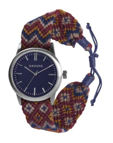 Kahuna Herren-Armbanduhr Analog textil blau KGF-0007G