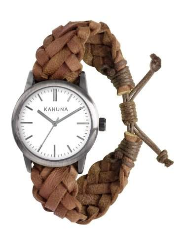 Kahuna Herren-Armbanduhr Analog Quarz Leder KGF-0009G