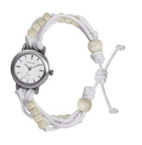 Kahuna Damen-Armbanduhr Analog plastik weiss KLF-0001L