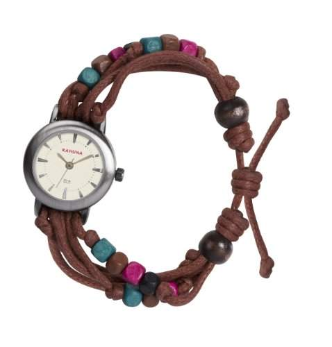 Kahuna Damen-Armbanduhr Analog plastik braun KLF-0003L