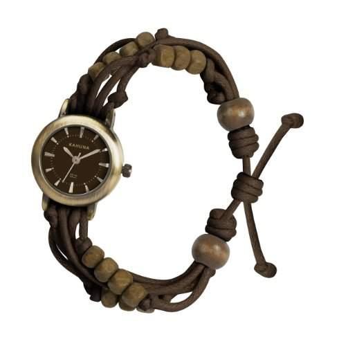 Kahuna Damen-Armbanduhr Analog plastik braun KLF-0008L