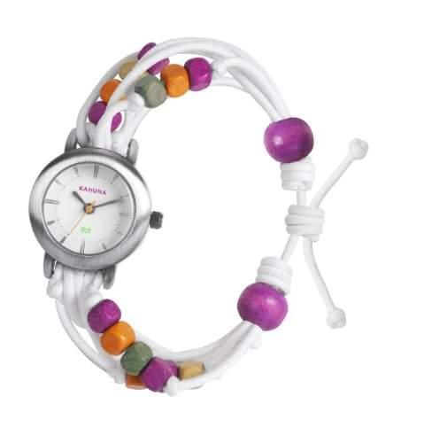 Kahuna Damen-Armbanduhr Analog Kunststoff weiss KLF-0015L