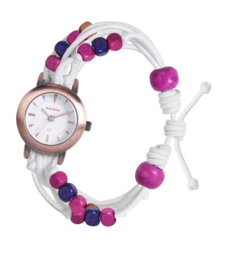 Kahuna Damen-Armbanduhr Analog Kunststoff weiss KLF-0016L