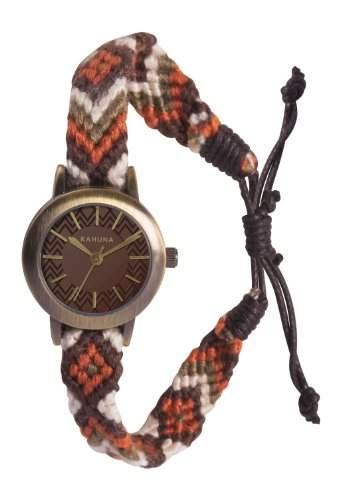 Kahuna Damen-Armbanduhr Analog textil braun KLF-0022L