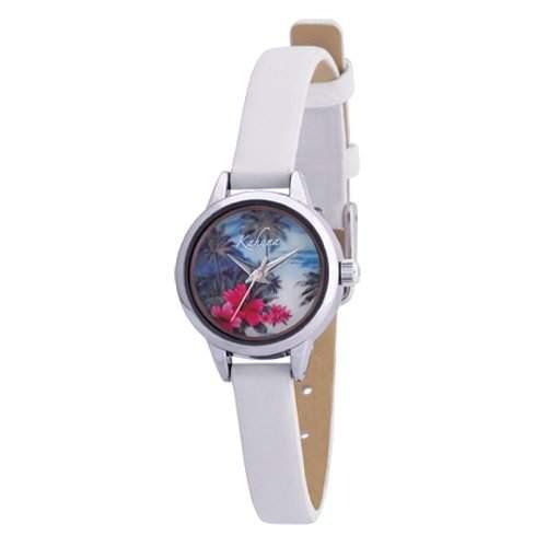 Kahuna Damen-Armbanduhr Analog Leder weiss KLS-0151L
