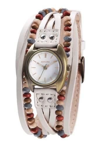Kahuna Damen-Armbanduhr Analog leder beige KLS-0202L