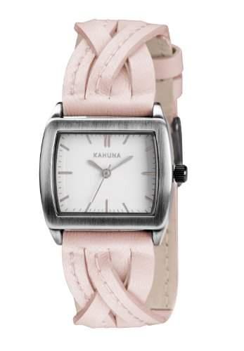 Kahuna Damen-Armbanduhr Analog Leder Rosa KLS-0207L