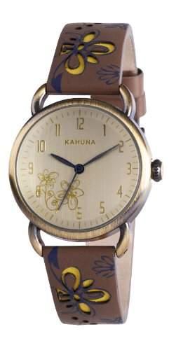 Kahuna Damen-Armbanduhr Analog leder braun KLS-0248L