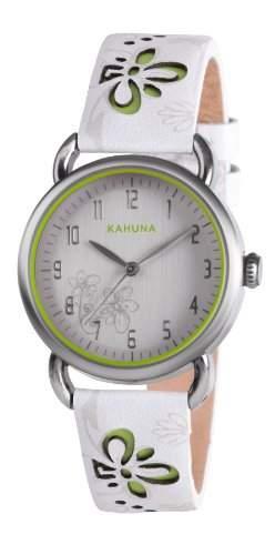 Kahuna Damen-Armbanduhr Analog leder weiss KLS-0251L