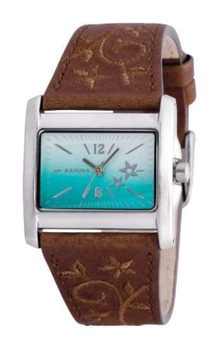 Kahuna Damen-Armbanduhr Analog Plastik Braun KLS-0283L