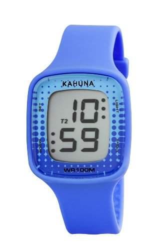 WomenKahuna Herren Armbanduhr Digital Silikon in Blau von KLS - 0293L