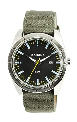 Kahuna Herren-Armbanduhr Analog Quarz Textil KUS-0119G