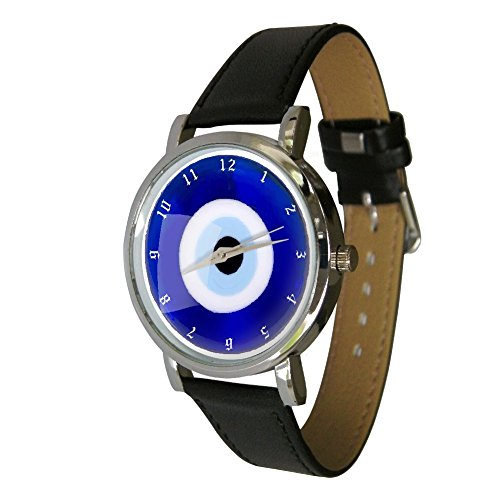 Armbanduhr mit Design Tuerkisches Auge Uhr mit Boesem Blick fuer Viel Glueck Erfolg und Schutz