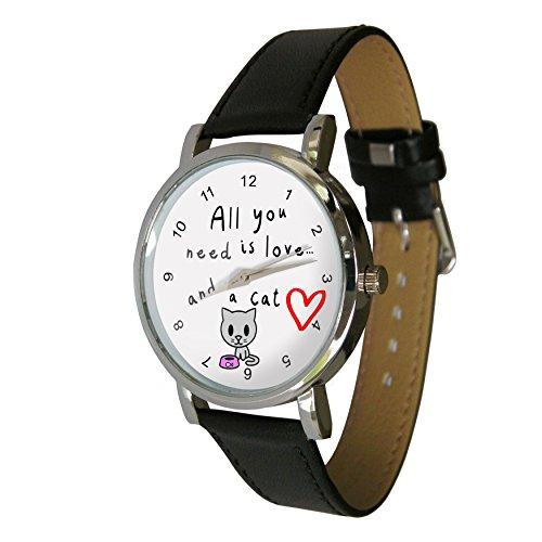 Sie muessen es Liebe eine Katze Armbanduhr Die perfekte Katzenliebhaber Geschenk Echtes Lederband