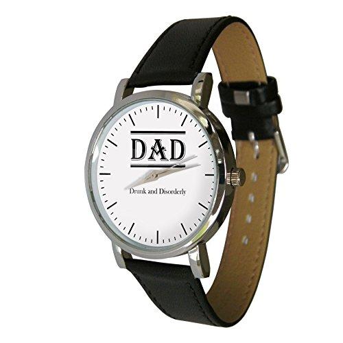 Dad Betrunken und unordentlich Design Armbanduhr mit einem echtem Leder Strap