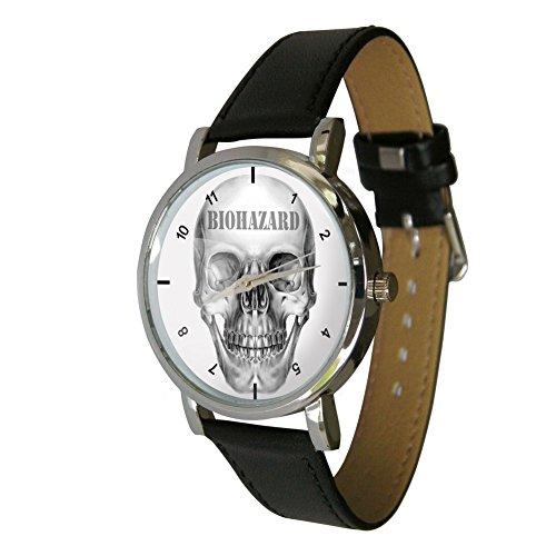 Biohazard Design Armbanduhr Echter Leder Strap Zombie Apocalypse