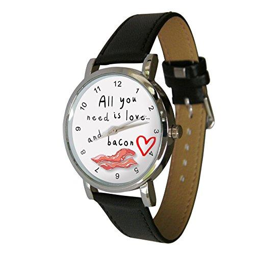 All You Need Is Love Speck Design Armbanduhr Echtes Leder Strap Perfekte fuer jeden Speck Lover