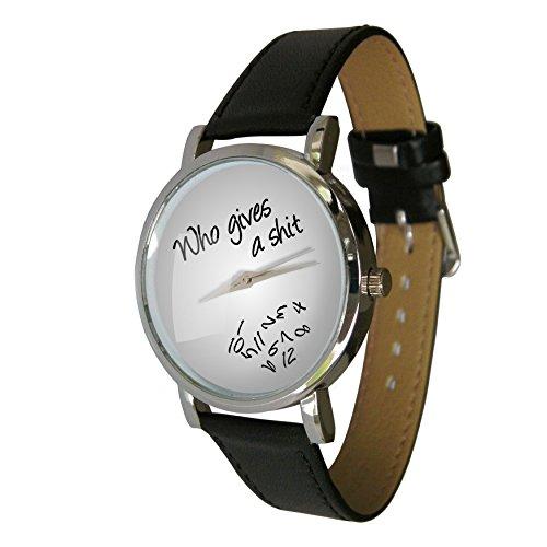 Who Gives A Shit Design Armbanduhr grau Jumbled Zahlen zeigt Zahlen Falling Off