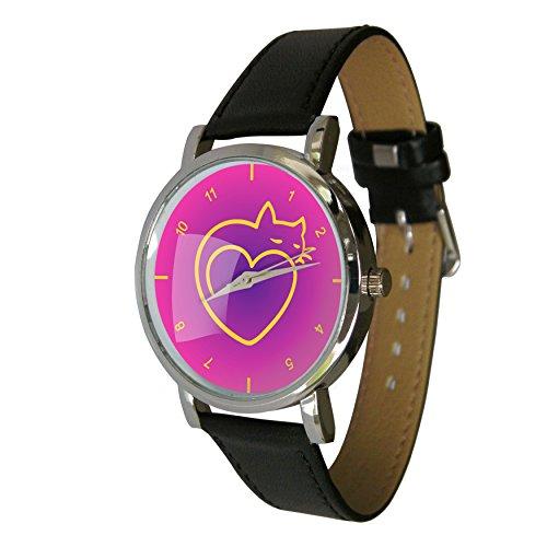 Love Cats Design Armbanduhr Cat und heart ideal Cat Geschenkidee fuer jeden Cat Lover