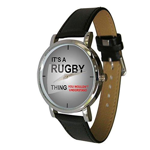 Seine a Rugby Thing Design Armbanduhr ein Perfekte Geschenk fuer alle Rugby Fans
