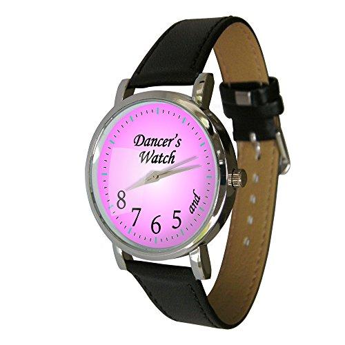 Pink Taenzer Armbanduhr und zeigen 5 6 7 20 3 cm Tolles Geschenk fuer jeden Dancer echtes Leder Gurt