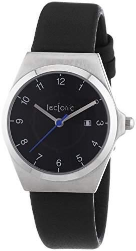 Tectonic Damen-Armbanduhr Analog Quarz Leder 41-1103-44