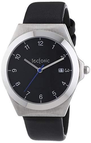 Tectonic Unisex-Armbanduhr Analog Quarz Leder 41-6103-44