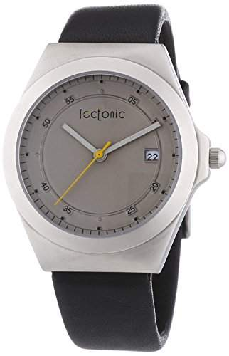 Tectonic Herren-Armbanduhr Analog Quarz Leder 41-6103-84