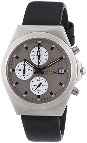 Tectonic Unisex-Armbanduhr Chronograph Quarz Leder 41-6904-84