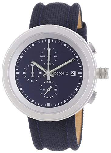 Tectonic Herren-Armbanduhr XL Chronograph Quarz Leder 41-6908-99