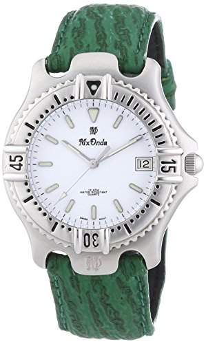 Mx Onda Herren-Armbanduhr XL Analog Quarz Leder 32-6200-15