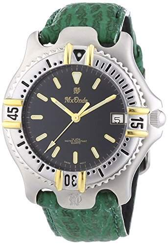 Mx Onda Herren-Armbanduhr XL Analog Quarz Leder 32-6201-45