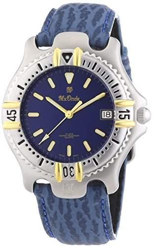 Mx Onda Herren-Armbanduhr XL Analog Quarz Leder 32-6201-99